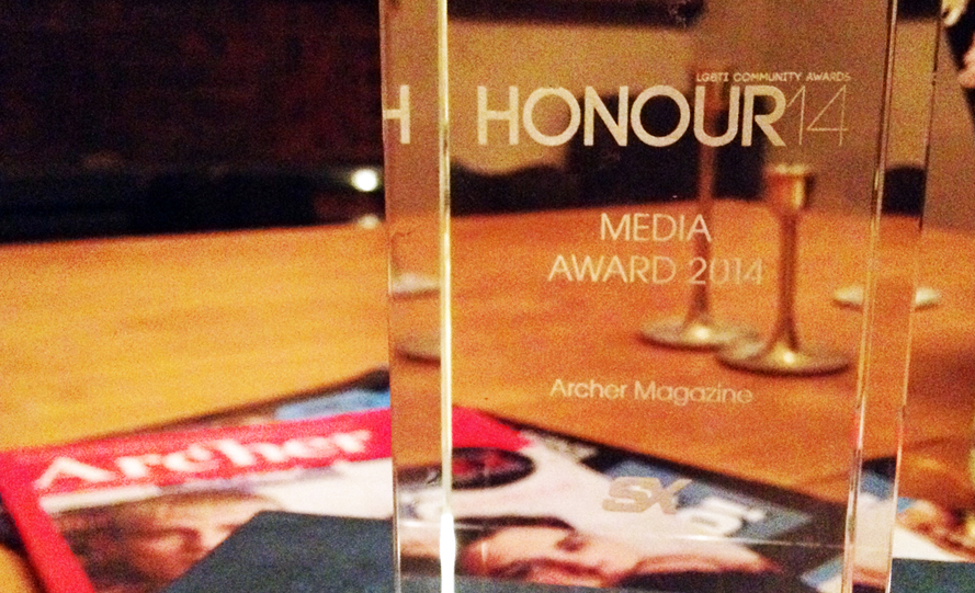 Archer Magazine wins top LGBTI Honour Award