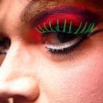 Highly stylised makeup typically accompanies drag