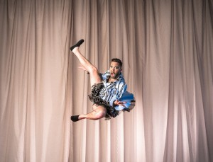 Dale Woodbridge-Brown, Circus Oz acrobat and MC. (Photo: Rob Blackburn)