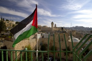 Palestinian colours blowing in the wind