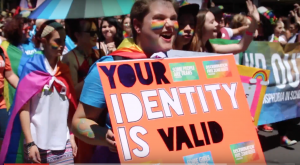 poster says 'your identity is valid'