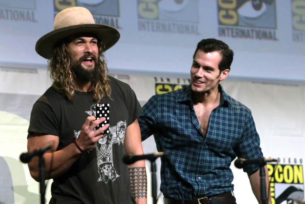 Left: Jason Momoa. Image: Gage Skidmore. Licensed under a Creative Commons 2.0 License.