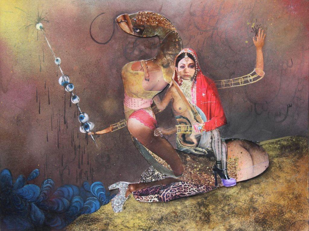 A collage by artist Saba Taj