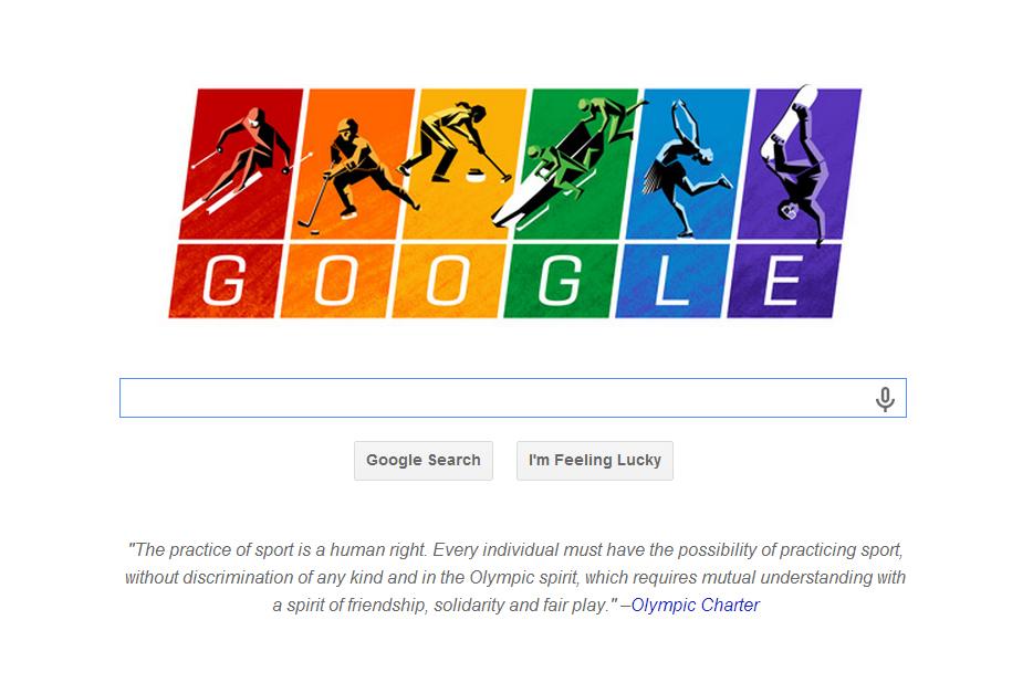 Google goes rainbow for Sochi 2014